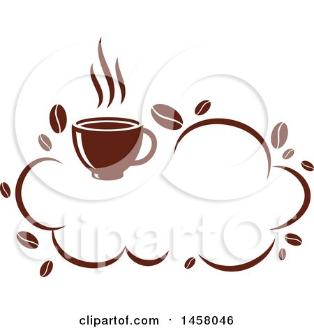 Clipart of a Brown Cloud Coffee Design - Royalty Free Vector Illustration by Vector Tradition SM