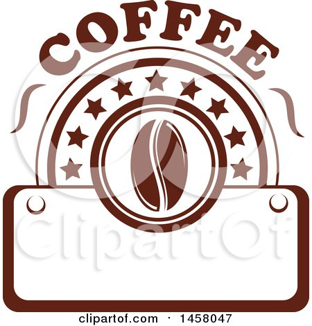 Clipart of a Brown Coffee Design - Royalty Free Vector Illustration by Vector Tradition SM