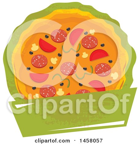 Clipart of a Pizza Design - Royalty Free Vector Illustration by Vector Tradition SM
