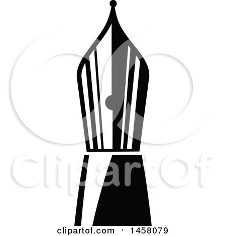 Clipart of a Black and White Pen Nib - Royalty Free Vector Illustration by Vector Tradition SM