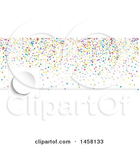 Clipart of a Colorful Confetti Party Planner or Event Social Media Cover Banner Design Element - Royalty Free Vector Illustration by KJ Pargeter