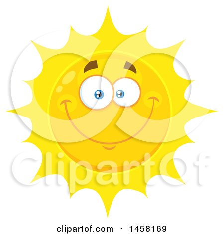 Clipart of a Smiling Sun Mascot - Royalty Free Vector Illustration by Hit Toon