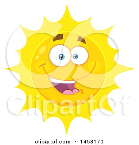 Clipart of a Happy Sun Mascot - Royalty Free Vector Illustration by Hit Toon