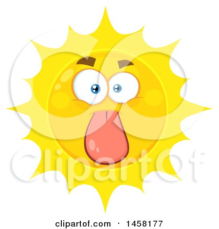 Clipart of a Sun Mascot Sticking His Tongue out - Royalty Free Vector Illustration by Hit Toon