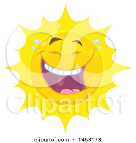 Clipart of a Laughing Sun Mascot - Royalty Free Vector Illustration by Hit Toon