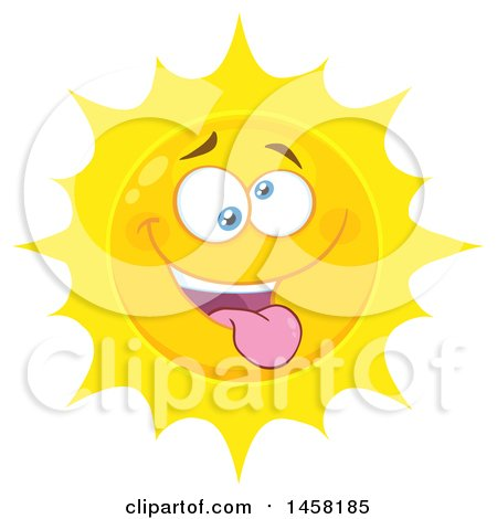 Clipart of a Silly Sun Mascot - Royalty Free Vector Illustration by Hit Toon