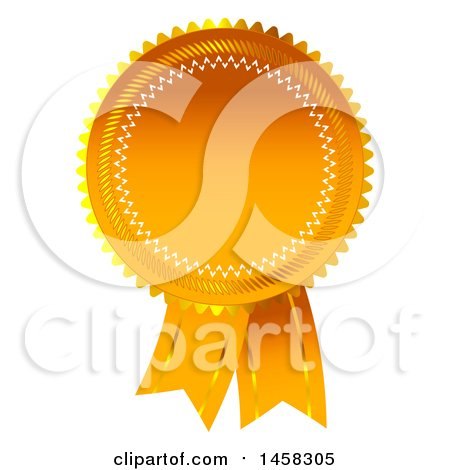 Clipart of a Premium Ribbon Quality Badge, on a White Background - Royalty Free Illustration by MacX