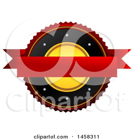 Clipart of a Blank Badge, on a White Background - Royalty Free Illustration by MacX