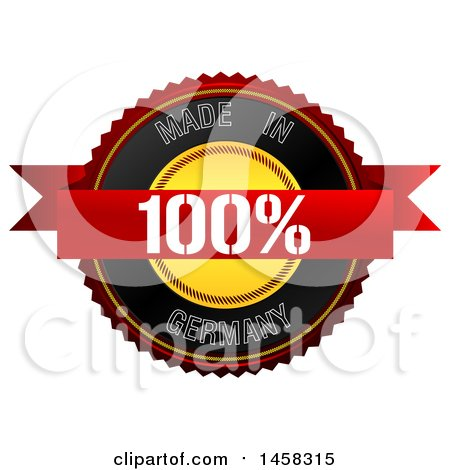 Clipart of a Made in Germany Badge, on a White Background - Royalty Free Illustration by MacX