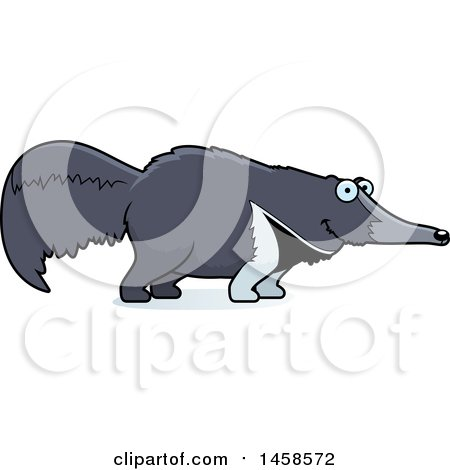 Clipart of a Happy Anteater Smiling - Royalty Free Vector Illustration by Cory Thoman