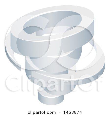 Clipart of a 3d Spinning Tornado Twister - Royalty Free Vector Illustration by AtStockIllustration