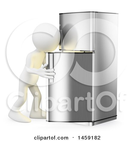 Clipart of a 3d White Man Looking in a Fridge, on a White Background - Royalty Free Illustration by Texelart
