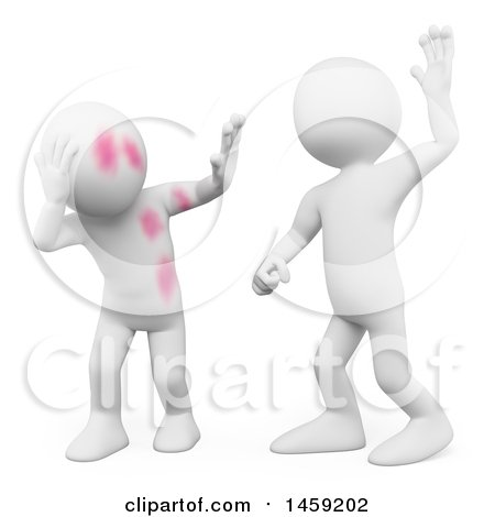 Clipart of a 3d White Man Abusing Someone, on a White Background - Royalty Free Illustration by Texelart