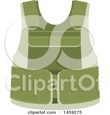 Clipart of a Military Vest - Royalty Free Vector Illustration by Vector Tradition SM