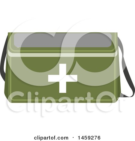 Clipart of a Military First Aid Kit - Royalty Free Vector Illustration by Vector Tradition SM