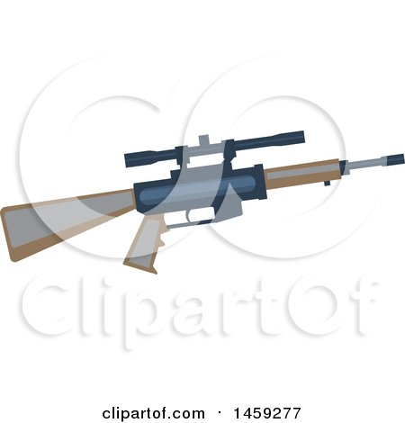 Clipart of a Military Rifle - Royalty Free Vector Illustration by Vector Tradition SM