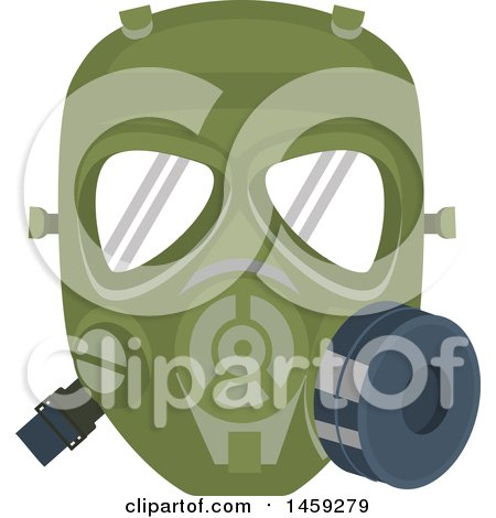 Clipart of a Military Gas Mask - Royalty Free Vector Illustration by Vector Tradition SM