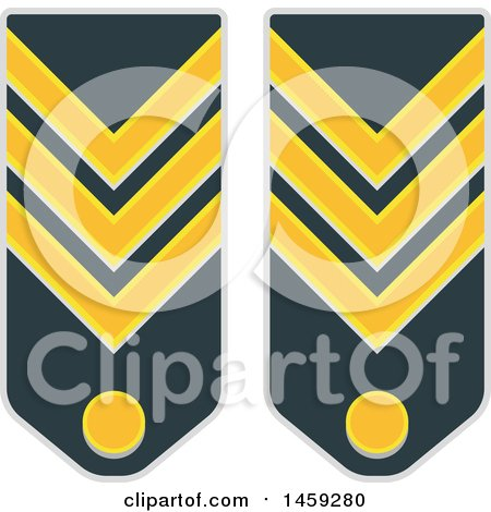 Clipart of Military Badges - Royalty Free Vector Illustration by Vector Tradition SM