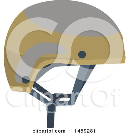 Clipart of a Military Helmet - Royalty Free Vector Illustration by Vector Tradition SM