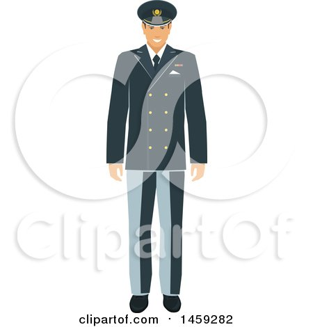 Clipart of a Military Man - Royalty Free Vector Illustration by Vector Tradition SM