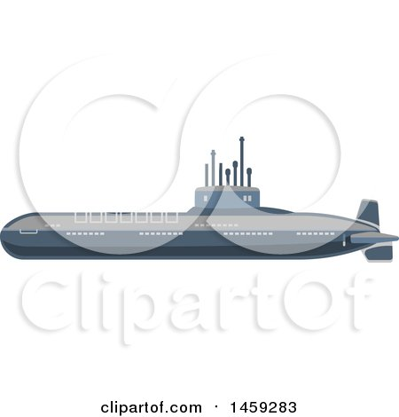 Clipart of a Military Submarine - Royalty Free Vector Illustration by Vector Tradition SM