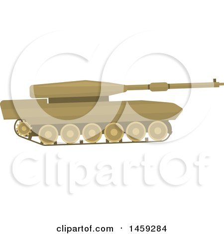 Clipart of a Military Tank - Royalty Free Vector Illustration by Vector Tradition SM