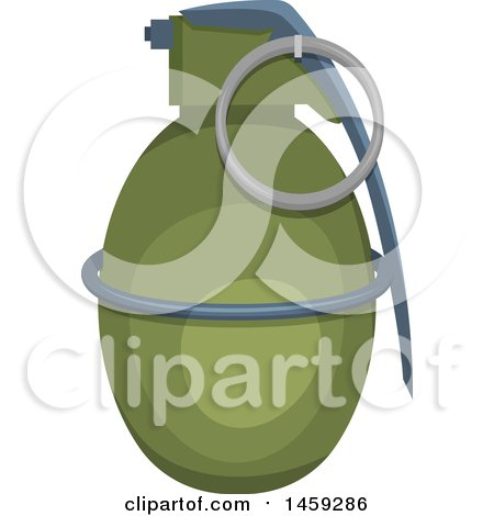 Clipart of a Military Grenade - Royalty Free Vector Illustration by Vector Tradition SM
