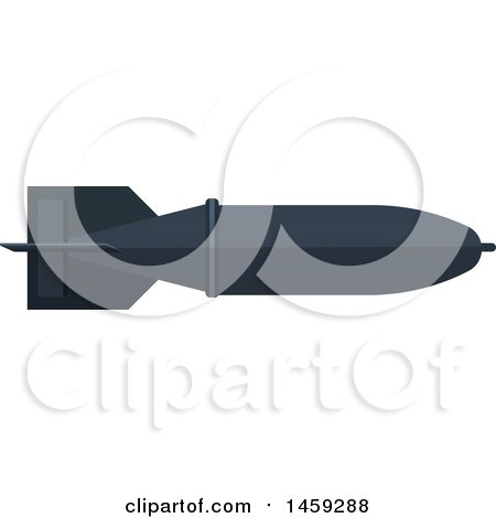 Clipart of a Military Missile - Royalty Free Vector Illustration by Vector Tradition SM