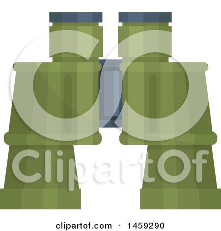 Clipart of a Military Binoculars - Royalty Free Vector Illustration by Vector Tradition SM