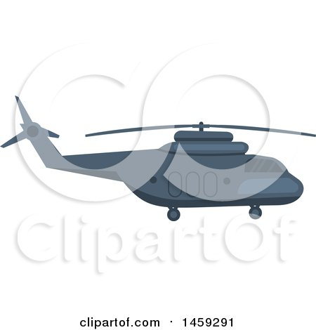 Clipart of a Military Helicopter - Royalty Free Vector Illustration by Vector Tradition SM
