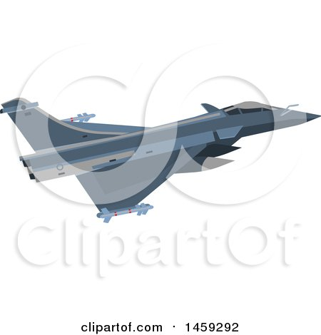 Clipart of a Military Jet - Royalty Free Vector Illustration by Vector Tradition SM