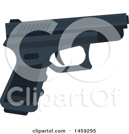 Clipart of a Gun - Royalty Free Vector Illustration by Vector Tradition SM