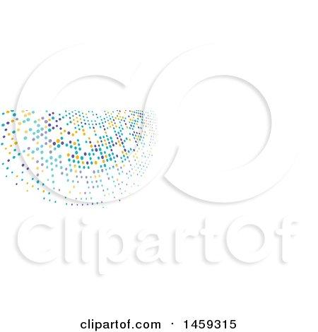 Clipart of a Halftone Dot Social Media Cover Banner Design Element - Royalty Free Vector Illustration by KJ Pargeter