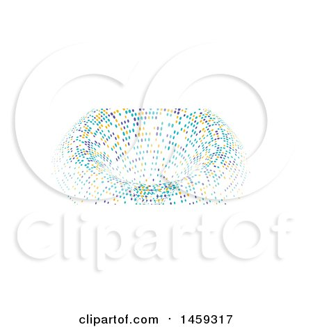 Clipart of a Halftone Dot Tunnel Social Media Cover Banner Design Element - Royalty Free Vector Illustration by KJ Pargeter
