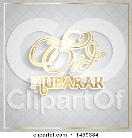 Clipart of an Eid Mubarak Background - Royalty Free Vector Illustration by KJ Pargeter