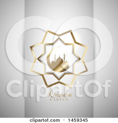 Clipart of a Ramadan Kareem Design - Royalty Free Vector Illustration by KJ Pargeter