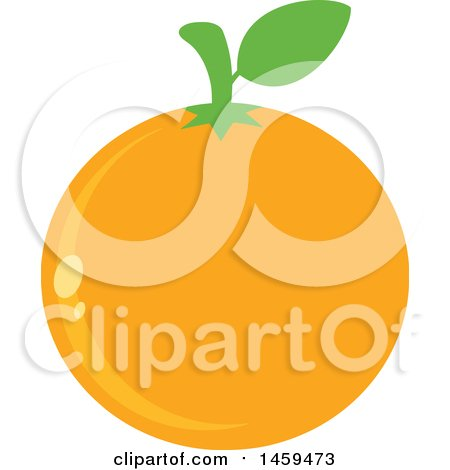 Clipart of a Navel Orange Fruit - Royalty Free Vector Illustration by Hit Toon