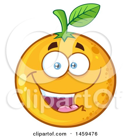 Clipart of a Navel Orange Fruit Mascot Character - Royalty Free Vector Illustration by Hit Toon