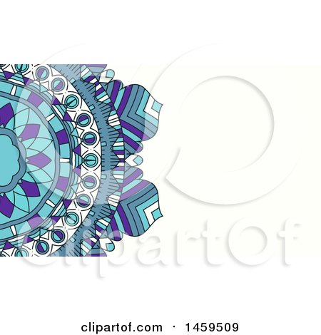Clipart of a Mandala Business Card Background - Royalty Free Vector Illustration by KJ Pargeter