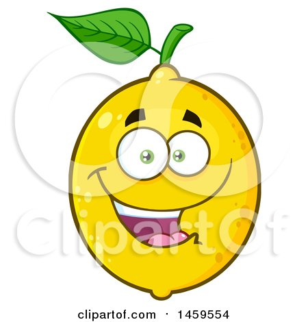 Clipart of a Happy Lemon Mascot Character - Royalty Free Vector Illustration by Hit Toon