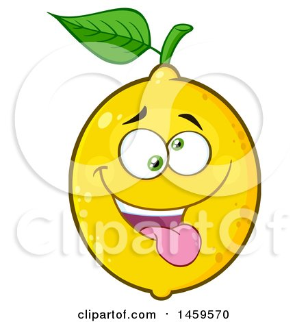 Clipart of a Silly Lemon Mascot Character - Royalty Free Vector Illustration by Hit Toon