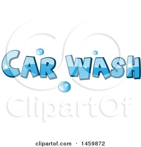 Clipart of a Car Wash Text Design - Royalty Free Vector Illustration by Domenico Condello