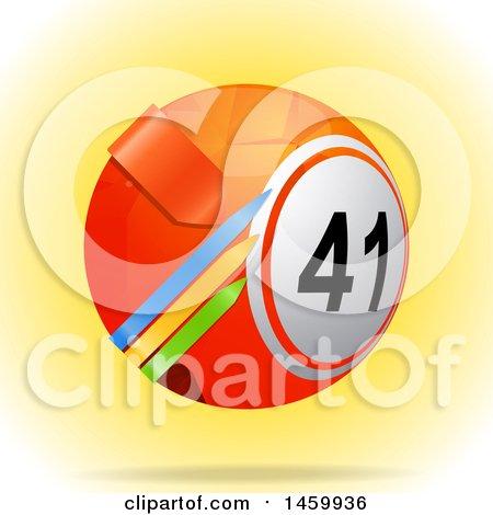 Clipart of a 3d Bingo or Lottery Ball with Arrows - Royalty Free Vector Illustration by elaineitalia