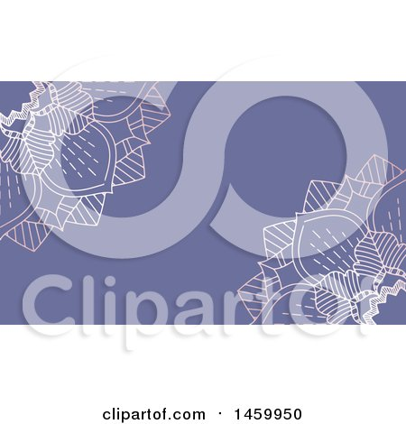 Clipart of a Purple Mandala Background - Royalty Free Vector Illustration by KJ Pargeter