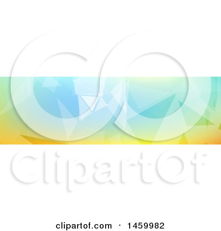 Clipart of a Geometric Website Banner Cover Design - Royalty Free Vector Illustration by KJ Pargeter
