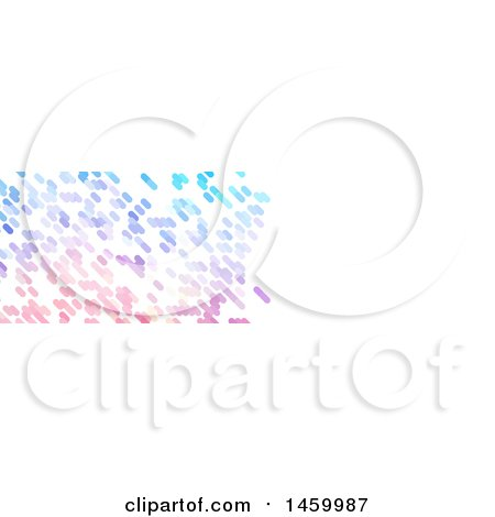 Clipart of a Pixel Website Banner Cover Design - Royalty Free Vector Illustration by KJ Pargeter