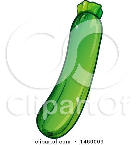 Clipart of a Green Zucchini - Royalty Free Vector Illustration by Domenico Condello