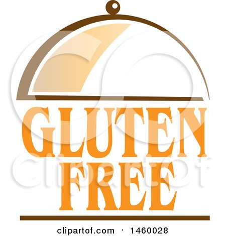 Clipart of a Gluten Free Text Design and Cloche - Royalty Free Vector Illustration by Domenico Condello