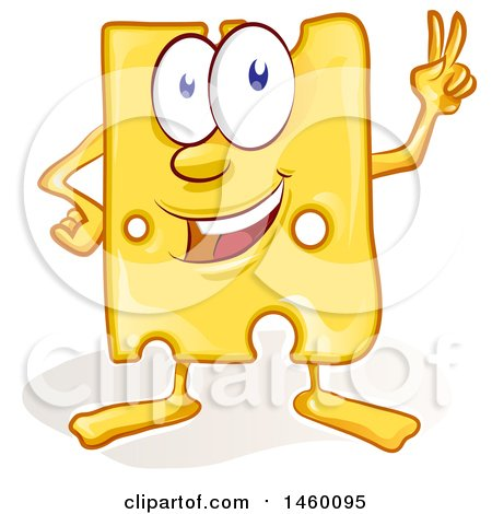 Clipart of a Cartoon Cheese Mascot - Royalty Free Vector Illustration by Domenico Condello