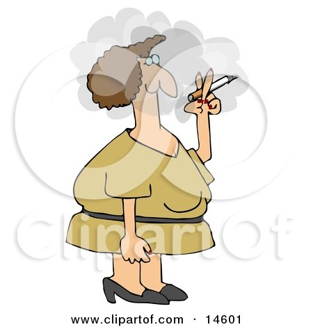Woman In A Yellow Dress, Standing Outside In A Cloud And Smoking A Cigarette On Her Break  Posters, Art Prints